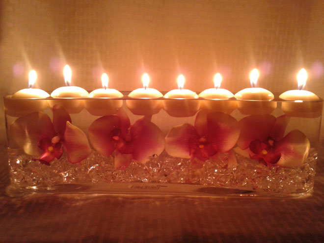 flaoting candles