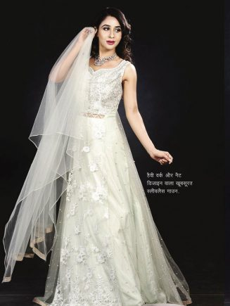 Beautiful Sleeveal Gown with Nate Design