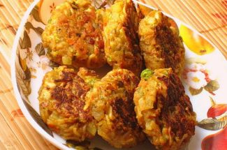 food and recipe noodles cutlet