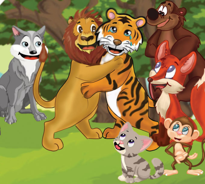 hindi story for kids jungle ka hero