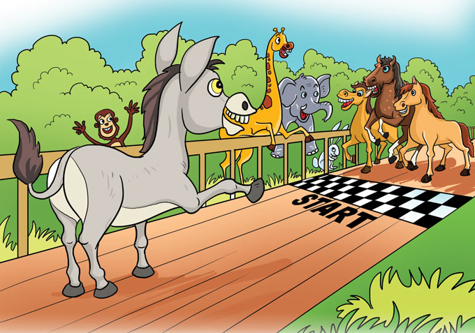 hindi story for kids race