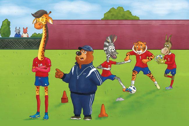 hindi story for kids football match