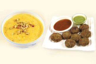 food and recipe matar kabab and kaddu kheer