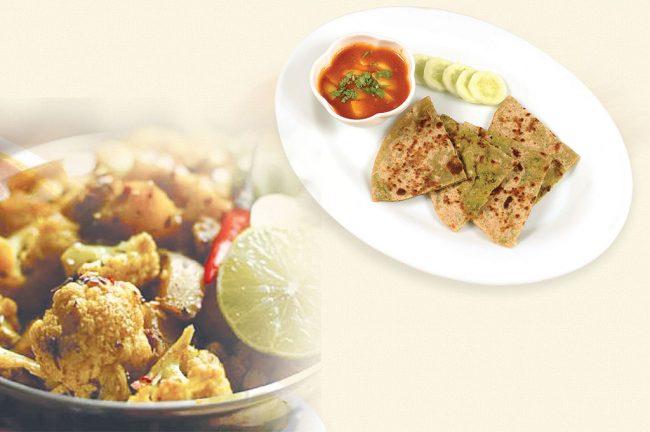 food-and-recipe-in-hindi-matar-ka-paratha-and-chatpati-gobhi